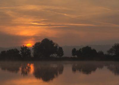 brzský ranní východ slunce