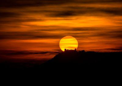 východ slunce za Pálavou