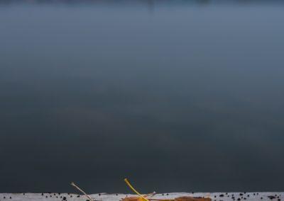 jezero v podzimních barvách