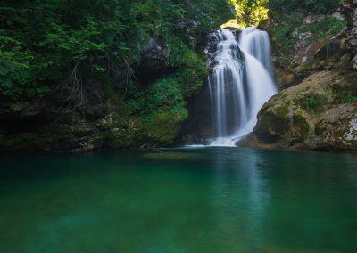 soutěska Vintgar - velký vodopád
