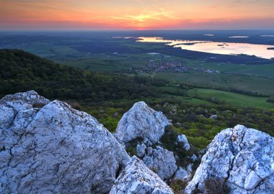 výhled nad obcí Horní Věstonice