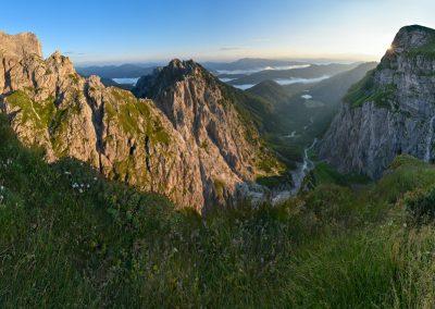 ráno na Slovinsko-Italské hranici