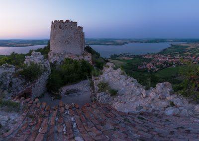 Děvičky - podvečerní panorama