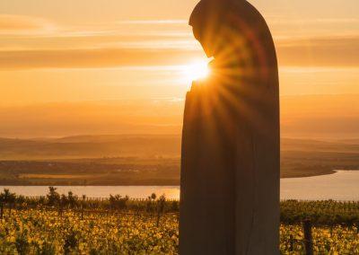 socha sv. Anežky Přemyslovny - Pavlov