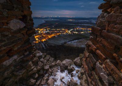 lednový večerní výhled
